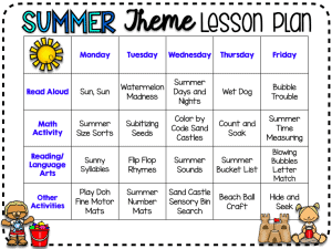 summer-themed-lesson-plan