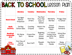 back-to-school-lesson-plan