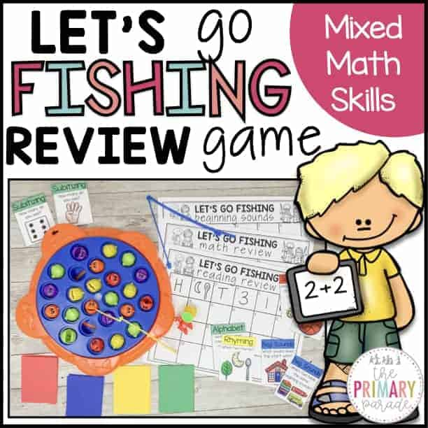 math review practice with the lets go fishing game