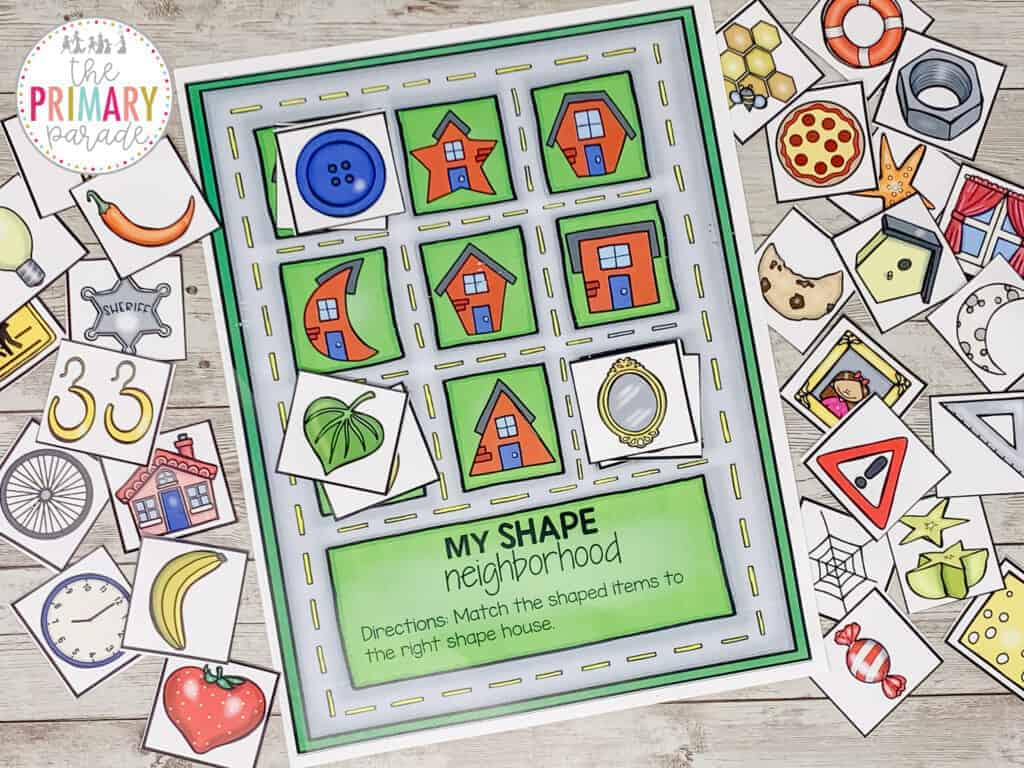 fun shape activities for matching