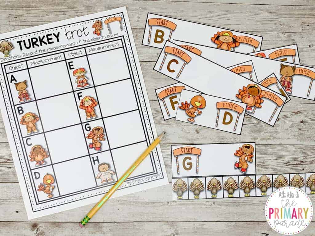 fall preschool activities to work on measuring