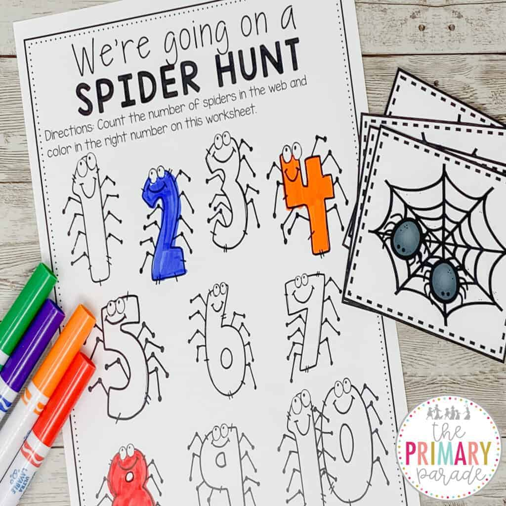 spider activities for kids to teach counting and numbers