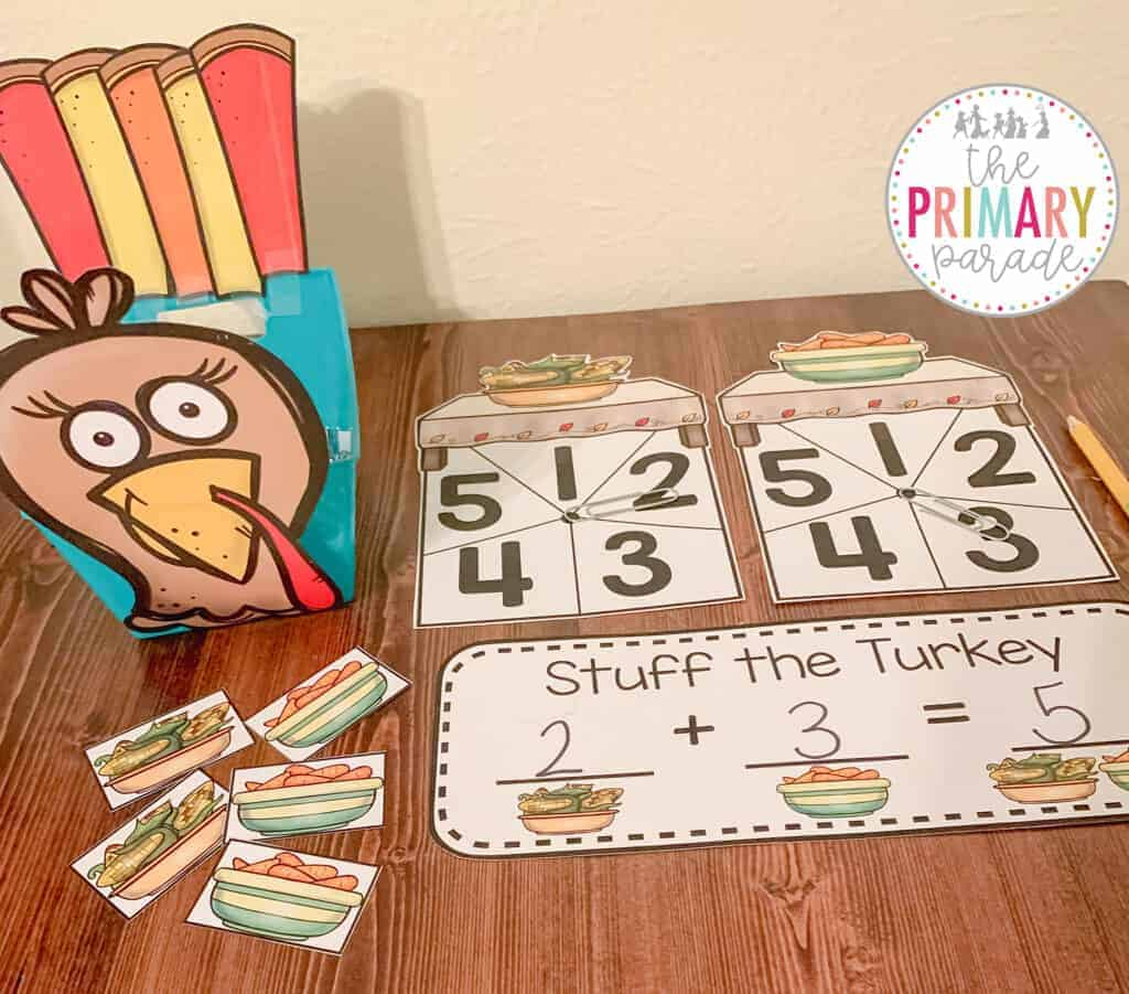 preschool thanksgiving activities for simple addition