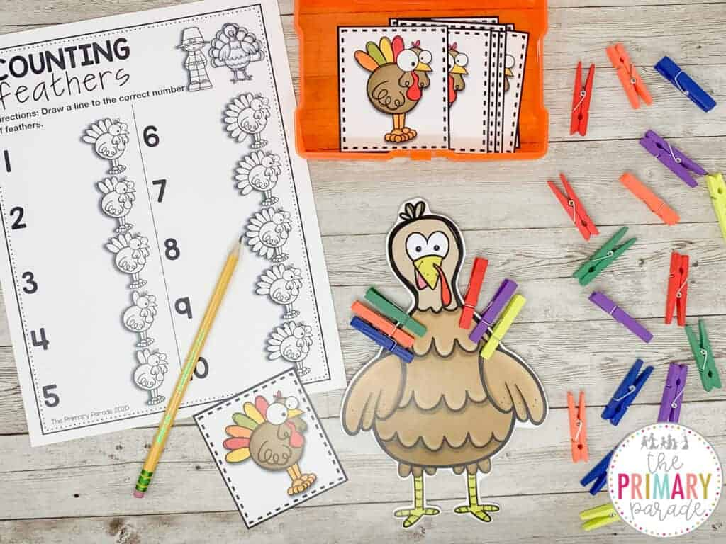 turkey activities for counting