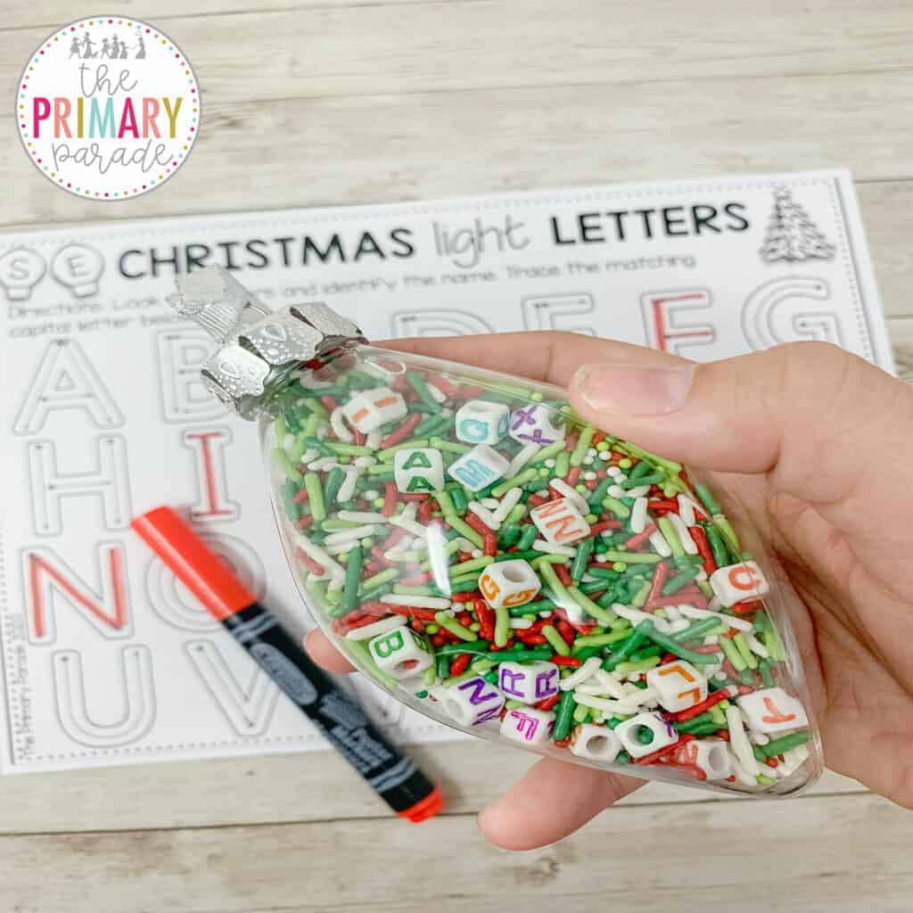 Christmas activities for kids. This fun winter holiday activity focuses on letters and letter sounds for kids
