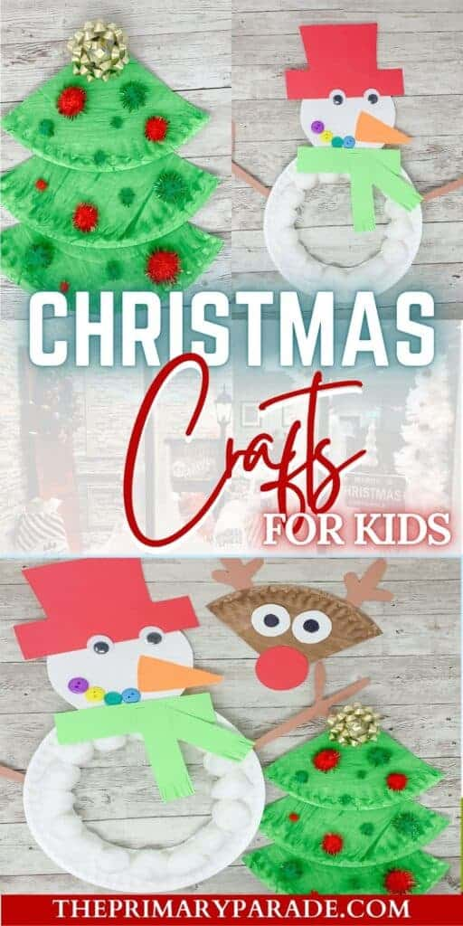 These Christmas crafts for kids are cute and easy paper plate crafts