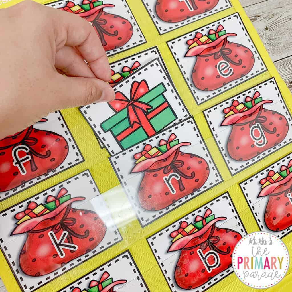 Christmas games for letter recognition.