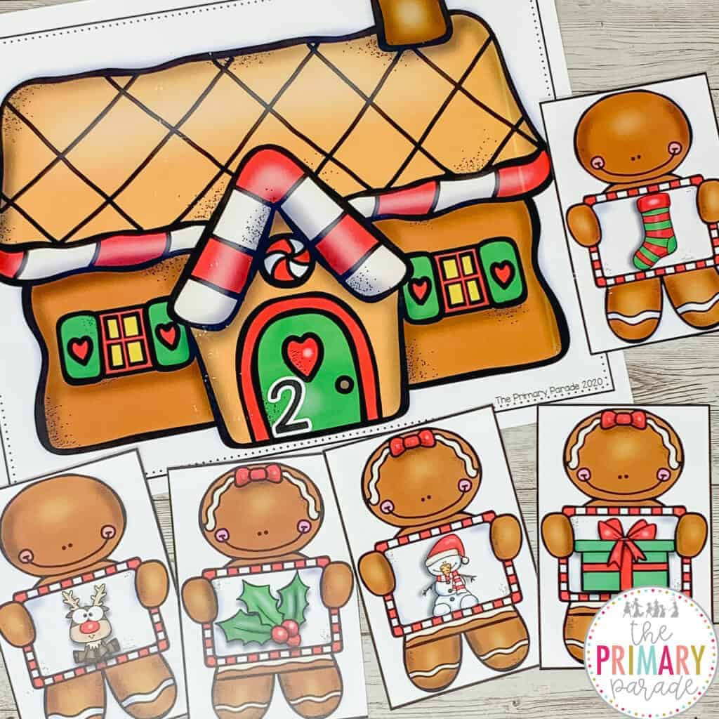 Gingerbread man activity for kids to practice syllables