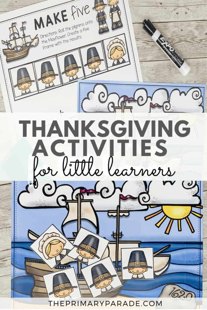 thanksgiving activities for kids addition to 5