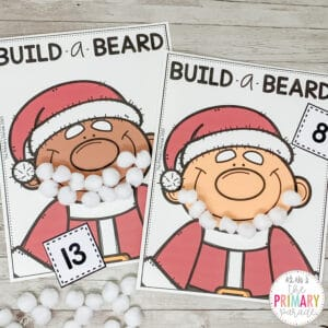Santa holiday activity to teach number sense build Santa's beard