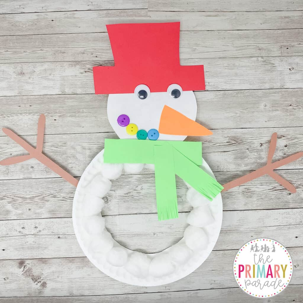 This snowman craft is an easy and cute Christmas craft for kids