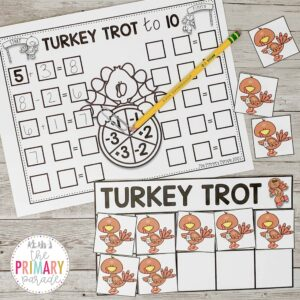 10 frame math game and thanksgiving math activities