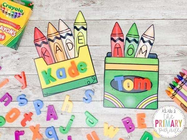 back to school name crafts for preschoolers