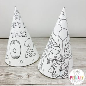 make a hat with this new years craft