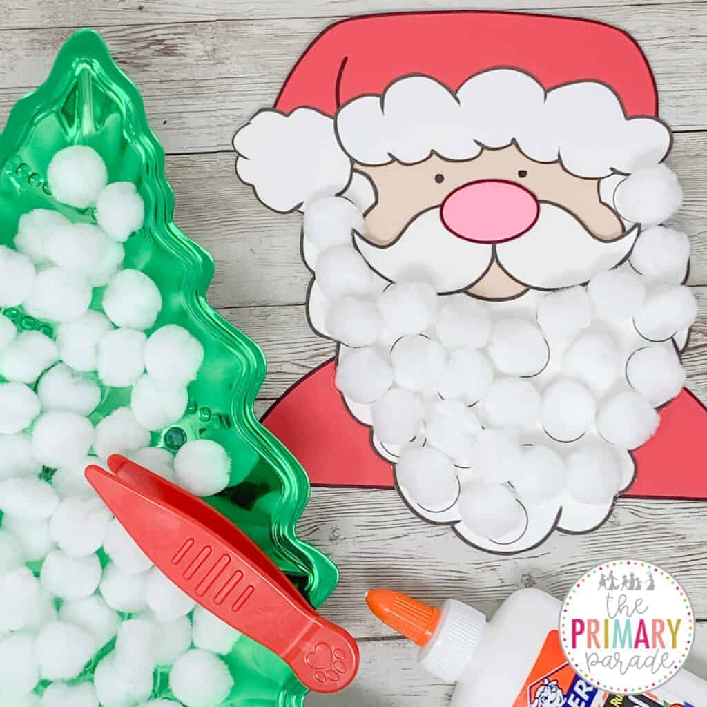 Santa advent calendar to count down the 25 days until Christmas