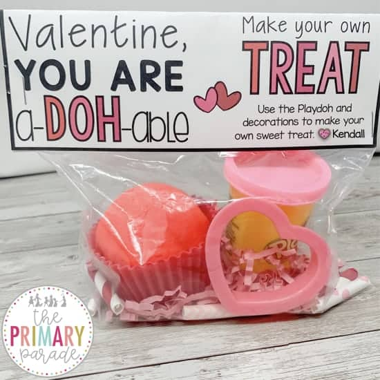 free valentines printable with playdoh