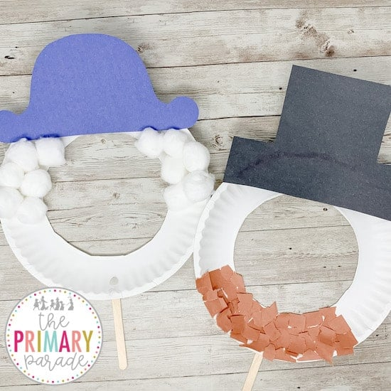 Presidents Day crafts for kids with paper plates