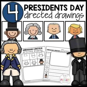 Presidents Day directed drawing