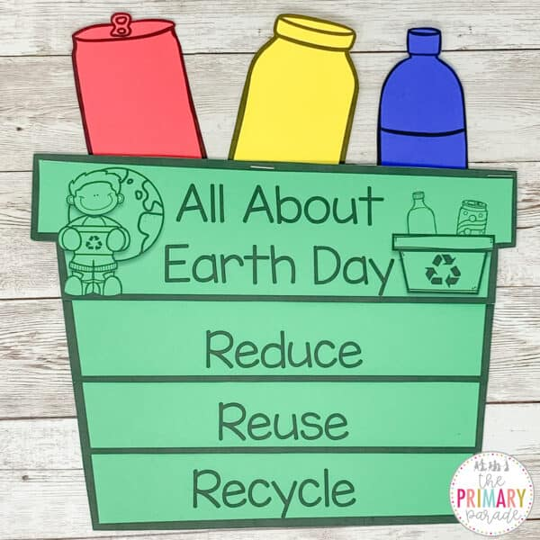 Earth day craft about reduce reuse recycle