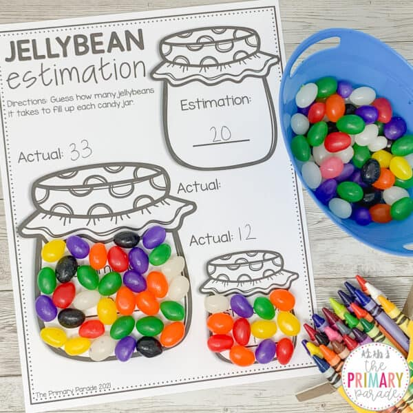 jelly bean math activity about estimation