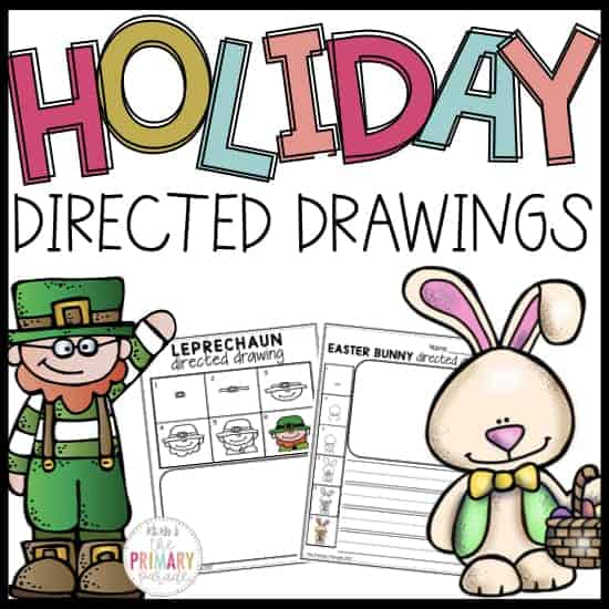 spring directed drawings for st patricks day and easter