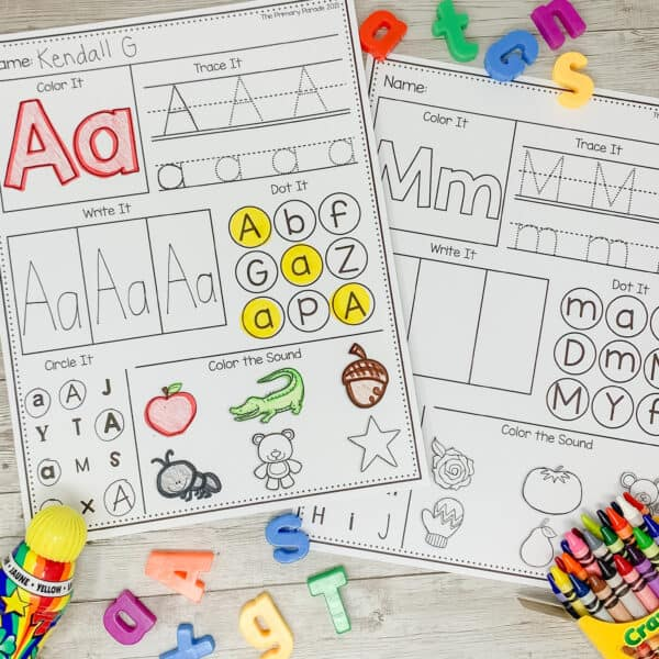 alphabet worksheets to practice tracing the abcs