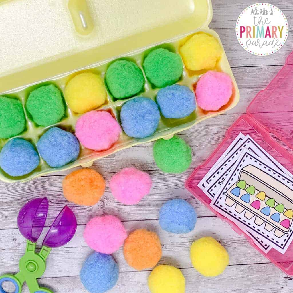 Practice patterns with this Easter egg activity for kids
