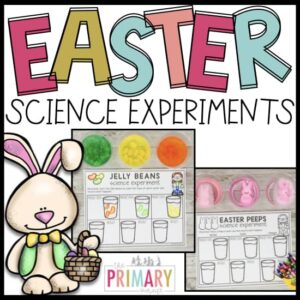easter science experiments with Peeps and Jelly Beans