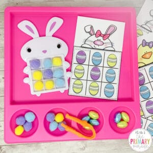 easter tic tac toe game