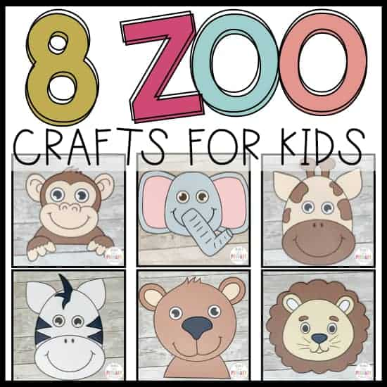 zoo animal crafts for preschool