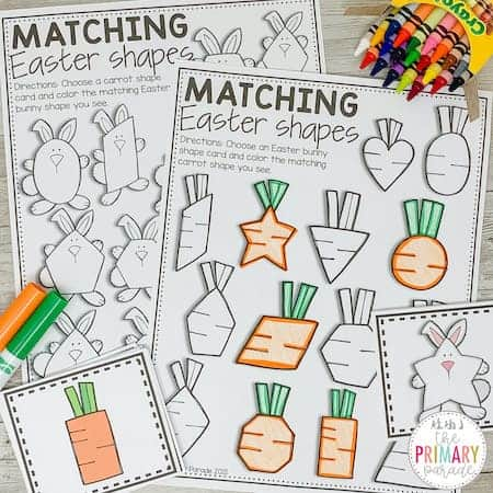 Easter activities for kids to teach shapes