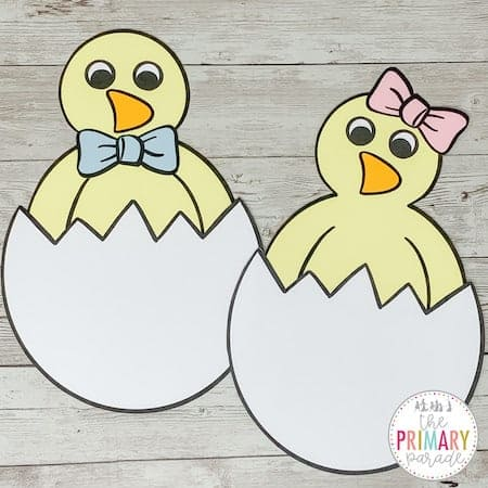 This chick craft printable is the perfect Easter craft for kids