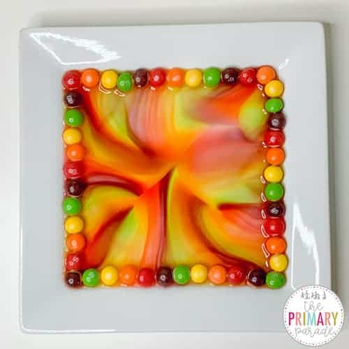 skittles experiment for science