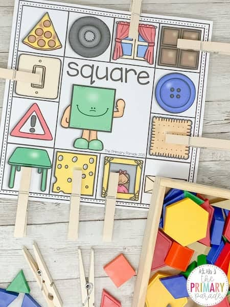 shape activities for toddlers and preschoolers. Match the real life shapes