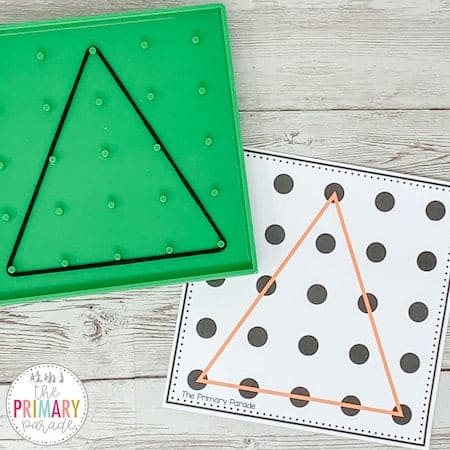 geoboard shapes are a fun way for your kids to make shapes