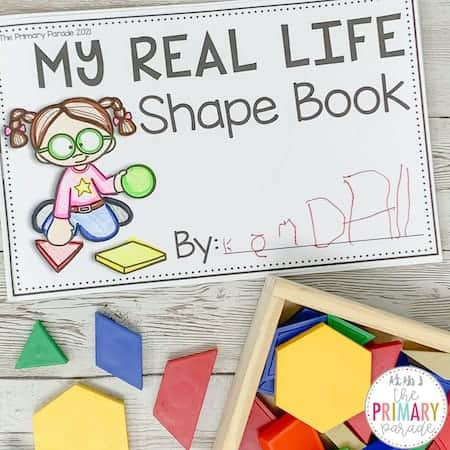 My shape book is great for teaching your toddler shapes in real life.