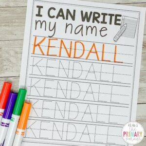 name writing practice for kids to learn to write your name