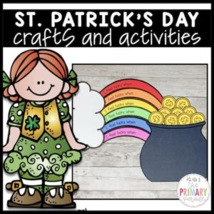 St Patricks Day craft of a pot of gold and rainbow