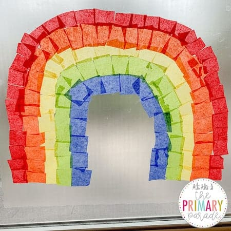 St Patricks Day activities for preschool to teach kids their colors with a sticky wall