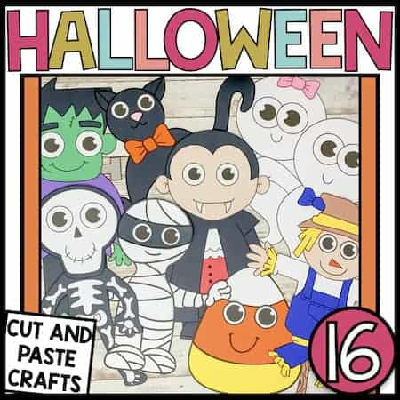 Fall crafts for kids to make this Halloween. Cute Halloween crafts for preschoolers.