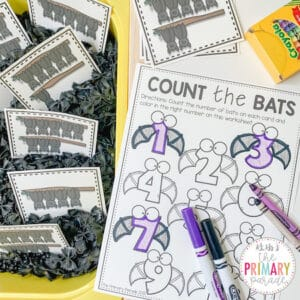 bat activities for kids to learn to count