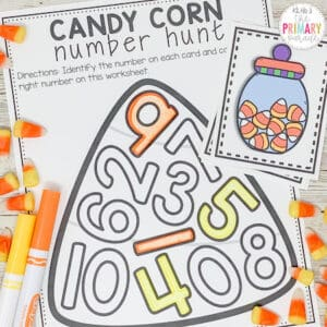 candy corn activity for kids to do on Halloween