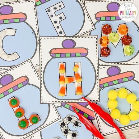 These free Halloween alphabet printables will teach your preschoolers letters and fine motor skills this Halloween.